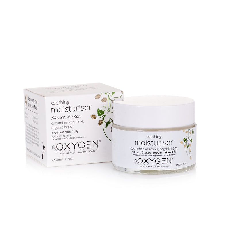 soothing moisturiser for problem / sensitive / oily skin New Zealand natural skincare - OxygenSkincare