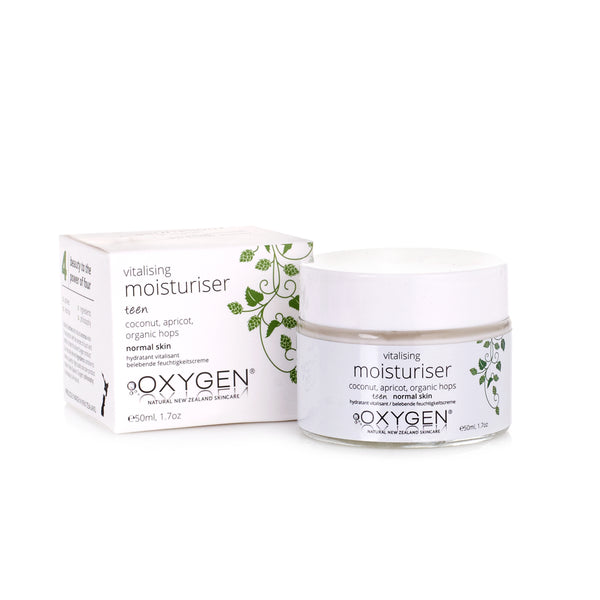teen vitalising moisturiser for normal skin New Zealand natural skincare - OxygenSkincare