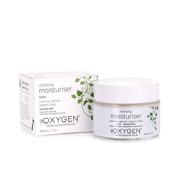 Teen vitalising moisturiser for normal skin - Oxygen natural skincare