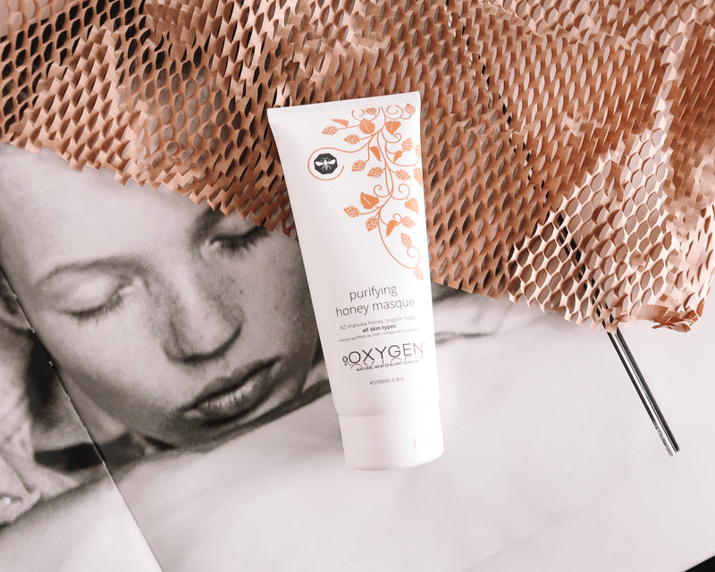 purifying manuka honey masque for all skin types New Zealand natural skincare - OxygenSkincare