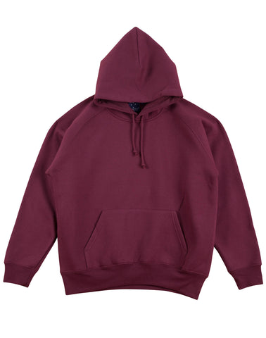 BURGUNDY COTTON FLEECE HOODIE