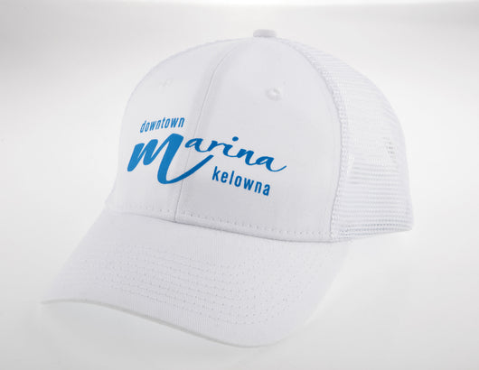 White/Blue Trucker