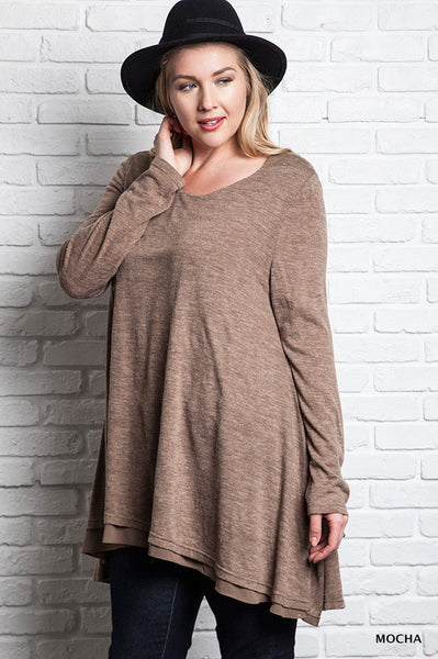 More Pieces of Flare Top - Mocha