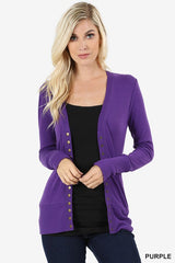 Oh Snap! ... Button Cardigan