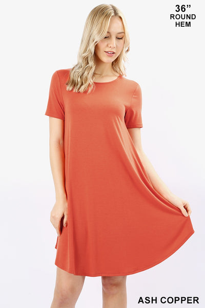Pretty and Premium A-Line Dress - Short Sleeves