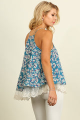 As Pretty as a Daisy Tank Top - Blue