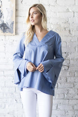 Long Sleeved Bell Sleeve Top