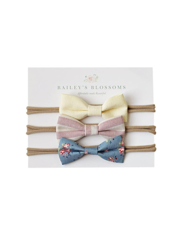 Vivian Linen Bow Headband Pack