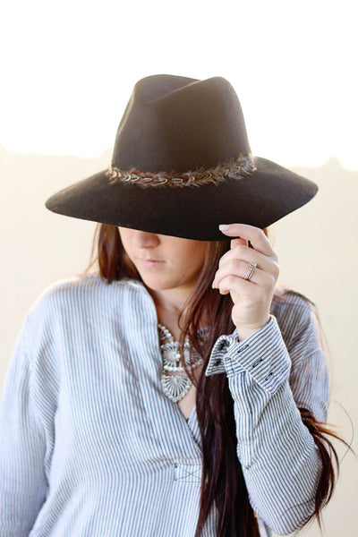Lucky Feather Wool Hat