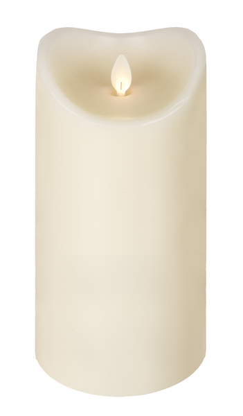 "3.7X7"" Wax LED Pillar Candle Ivory"