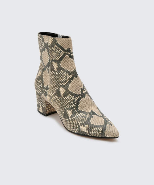 Bel Snake Print Leather Boot