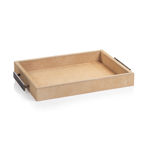 Leather Tray W/ Handles