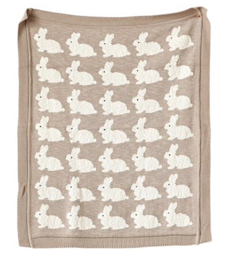 Rabbit Knit Blanket