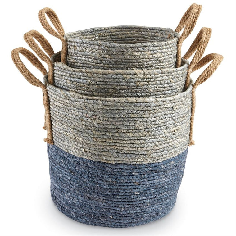 Blue Seagrass Basket