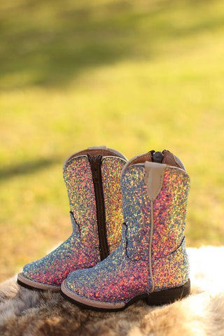 Mermaid Blue Zipper Boot Infant