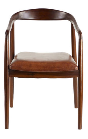 Teak Leather Chair