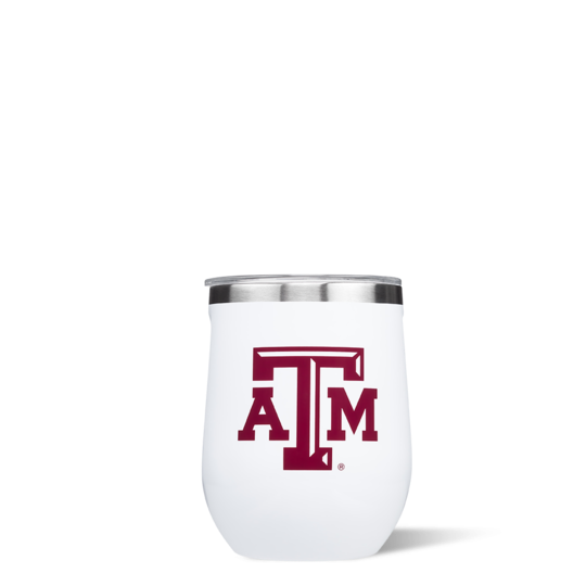 Collegiate Stemless Wine Glass TAMU 12oz