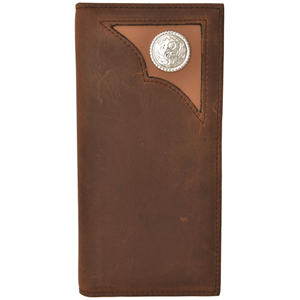 3D Brown Western Rodeo Wallet