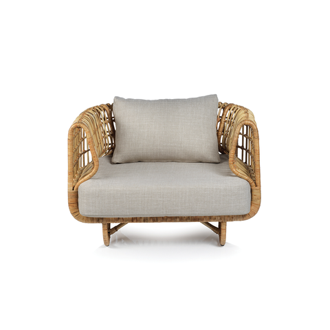 Adrina Rattan Chair W/Cushion