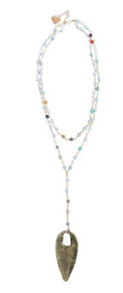 2 Layer Rosary Pend Necklace