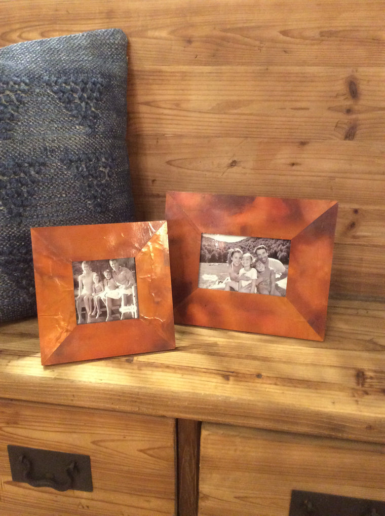 Distressed Copper Frame