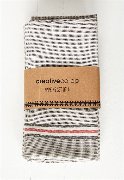 Cotton Chambray Napkin Set 4