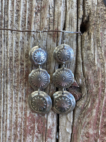 3 Concho Earrings