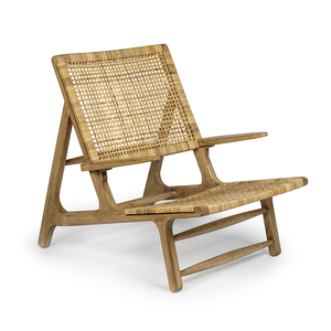 Mango Wood & Cane Lounge Chair