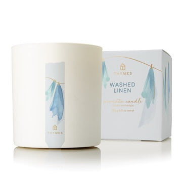 Washed Linen Poured Candle 8Oz