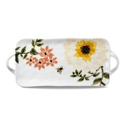 Bee Floral Rectangle Platter