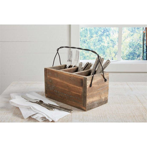 Reclaimed Wood Utensil Holder