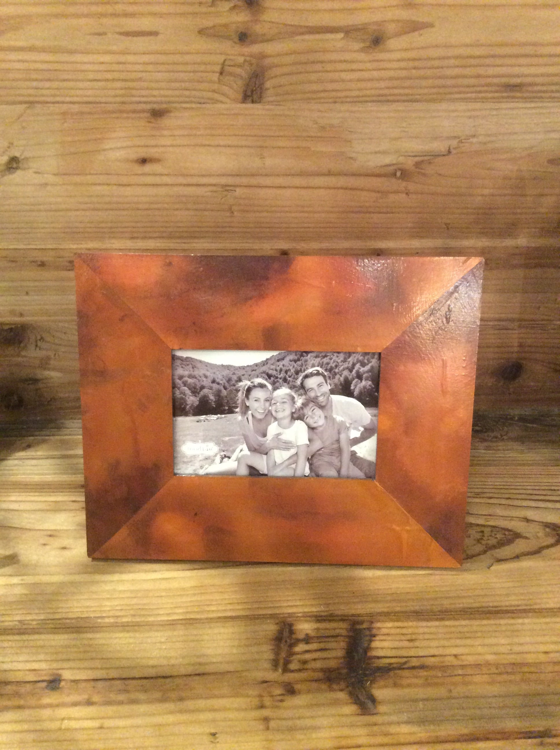 Large Distressed Copper Frame