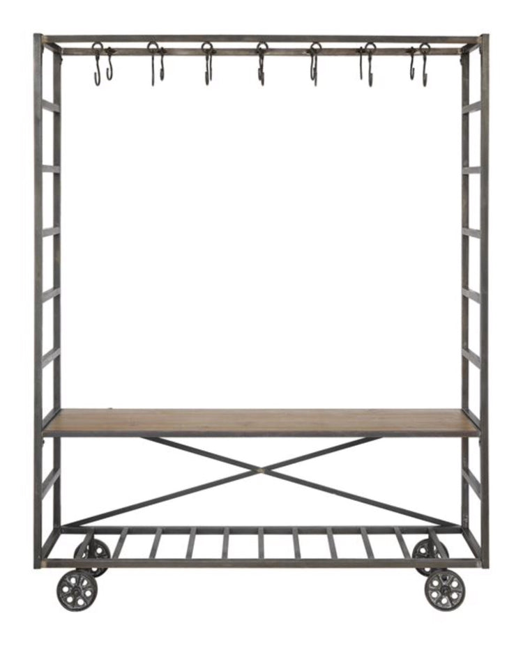 Metal Cart W/ Bench