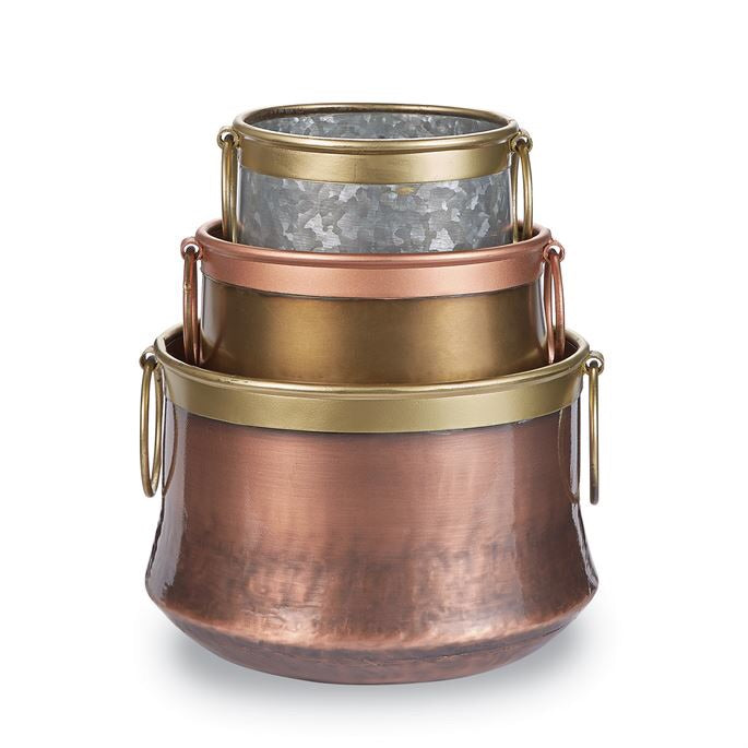 Small Copper Brass Tin Pot