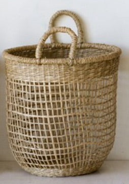 Natural Seagrass Basket 12""