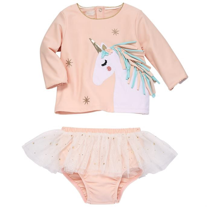 Unicorn Rash Guard Swim Set
