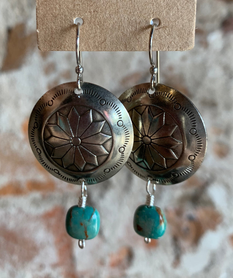 Oval Concho Earrings