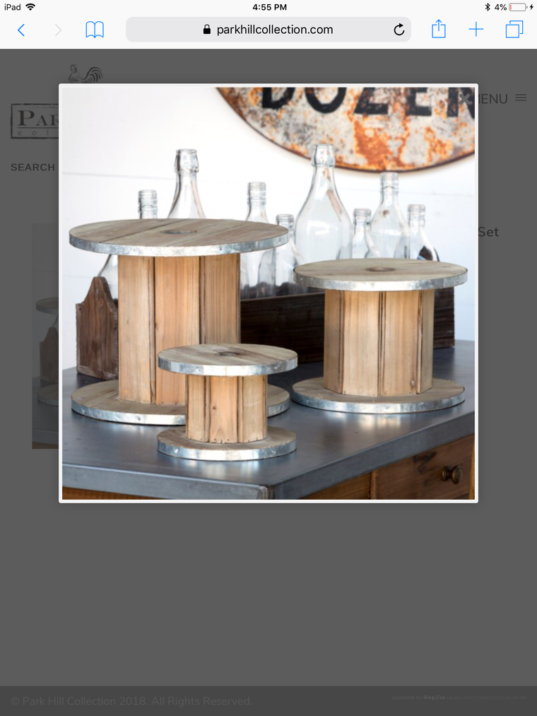 Wooden Spool Display Risers