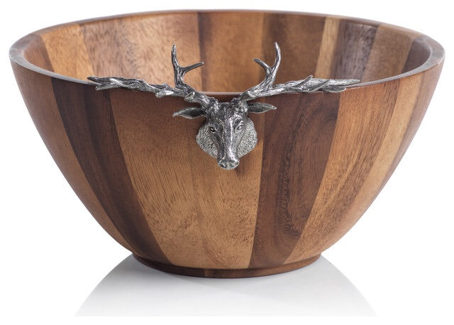 St Anton Stag Head Salad Bowl