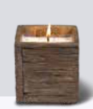 Weathered Square Candle Small