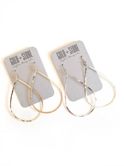 Hammered Teardrop Earring