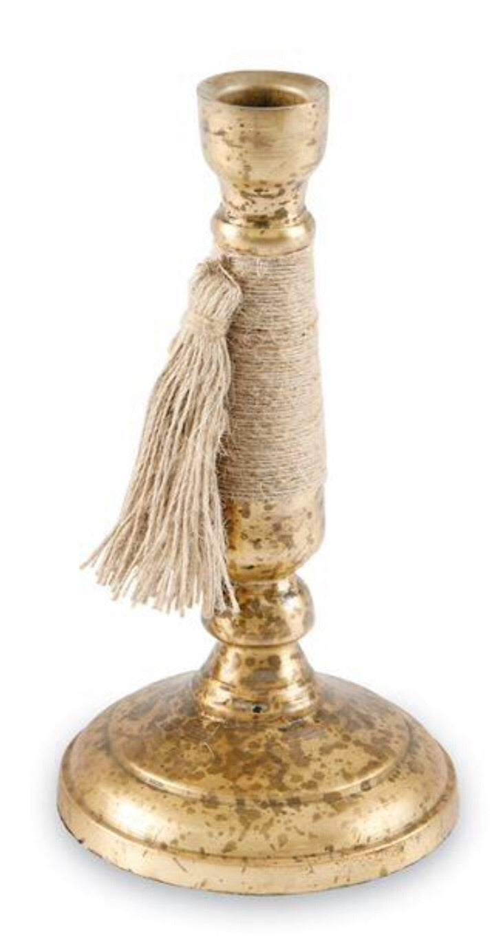Tall Taper Holder W/Tassel