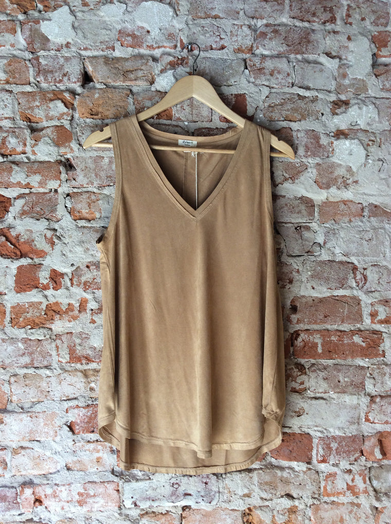Soft Suede Sleeveless V-Neck