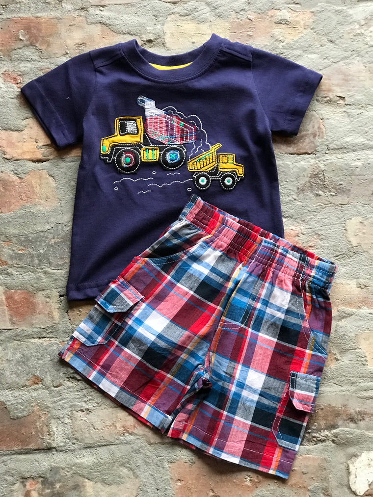 2pc Boy Dump Truck T-shirt & short set