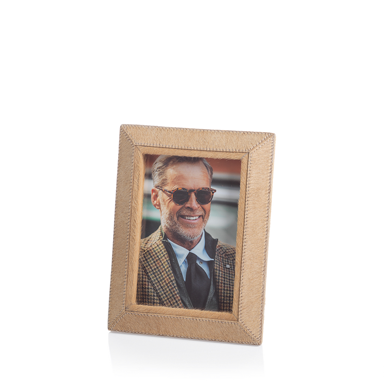 Aspen Hair Leather Frame