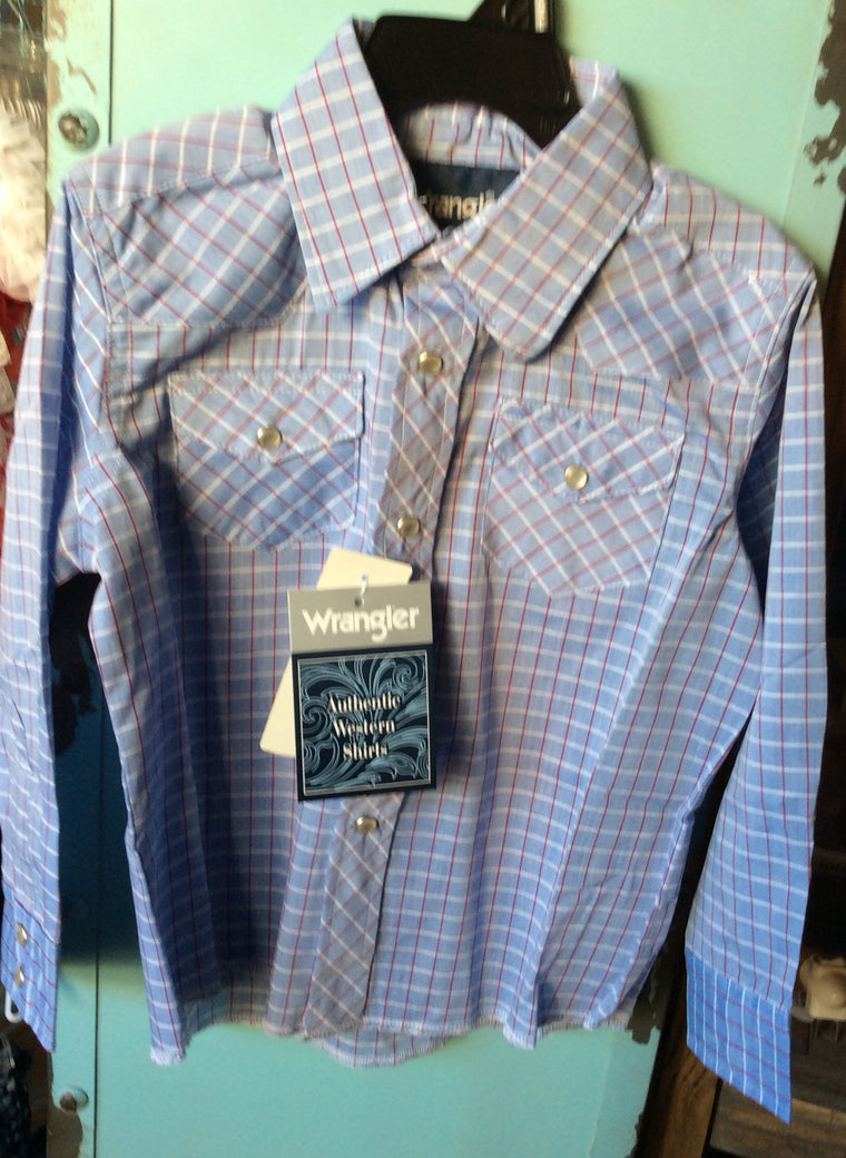 Boys Authentic L/S Western Snap Shirt