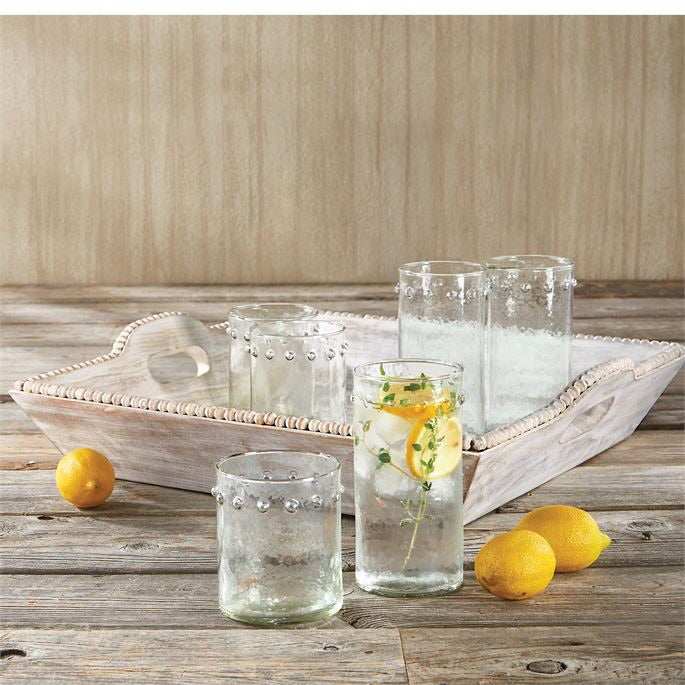 Dotted Hammered Glass Highball