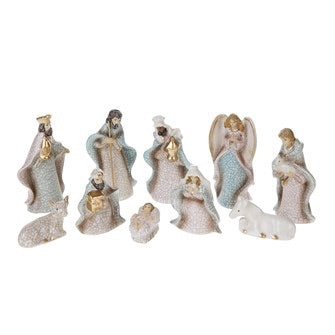 Crackled Nativity  10Pc