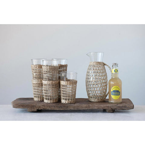 Drink Glass W/Woven Sleeve