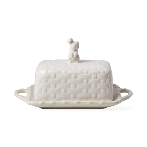 Bunny Basket Weave Butter Dish